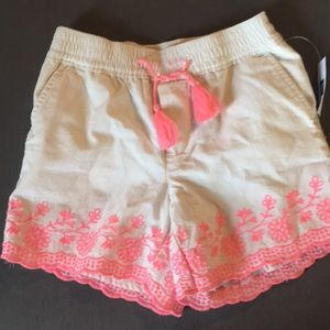Embroidered Gap Girls 6 Shorts